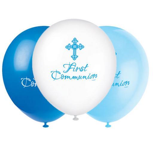 12inch First Communion Blue Balloons.jpg