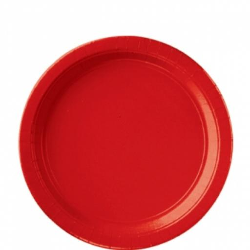 Apple Red Paper Plates 8 pk