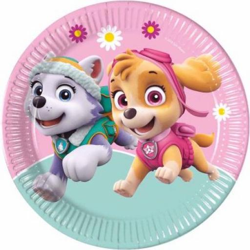 Paw Patrol Skye and Everest Paper Plates 23cm 8pk