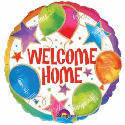 """Welcome Home Foil Balloon 18"""""""