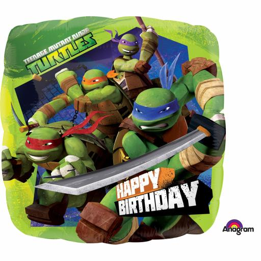 "Teenage Mutant Ninja Turtles Happy Birthday 17"" Foil Balloon"