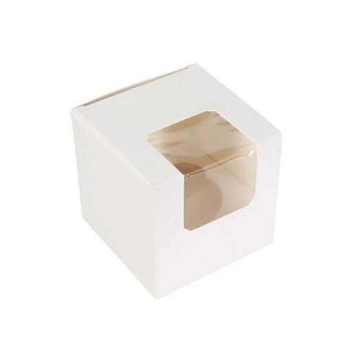 White 1 Holes Cupcake/Muffin Box