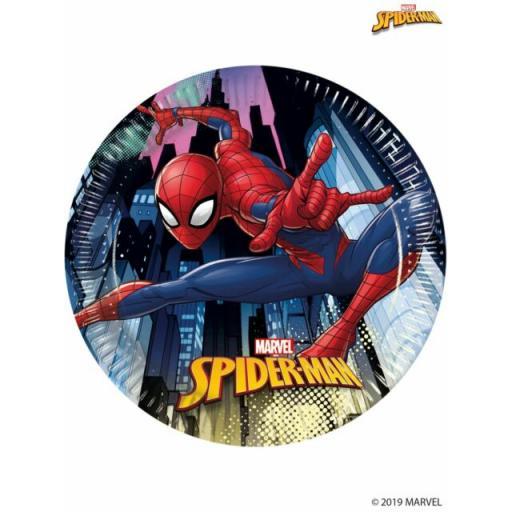 Spider Man Paper Plates 20cm