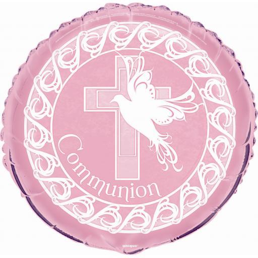 "18"" Foil Communion Balloon Pink"