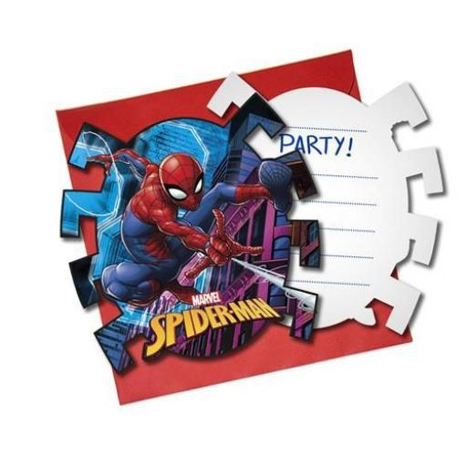 Spider Man Invitation 6pk