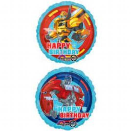 "Transformers Happy Birthday 2 Sided 17"" Foil Balloon"