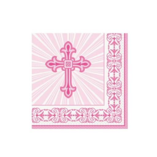 Girls 1st First Holy Communion Party Tableware Decorations Supplies Pink + White