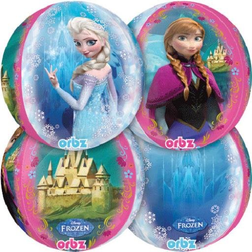 "Orbz 4 Sided Frozen 15 x 16"" Foil Balloon"