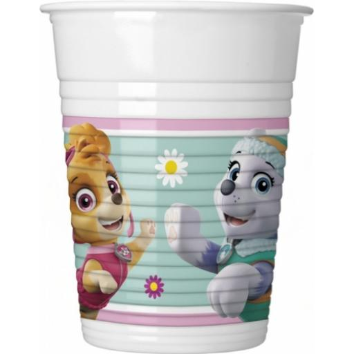 Paw Patrol Skye and Everest Plastic Cups 8pk