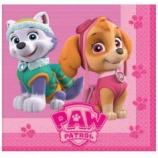 Patrol Paw Skye and Everest Napkins 20pk
