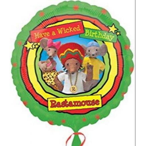 "Rastamouse Birthday 18 "" Foil Balloon"