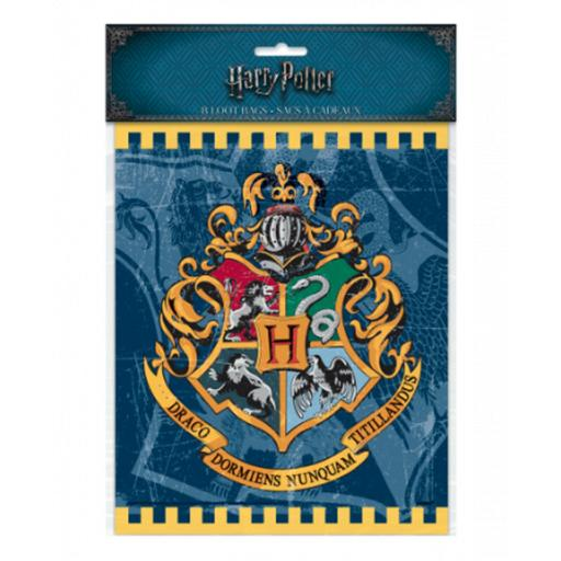 Harry Potter Treat Loot Bags with Hogwarts Crest 8pk