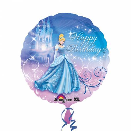 "Cinderella Happy Birthday Standard 17"" Foil Balloons"