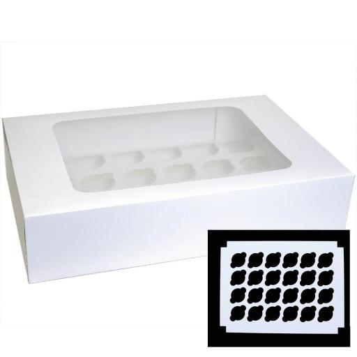 White 24 Holes Cupcake/Muffin Box