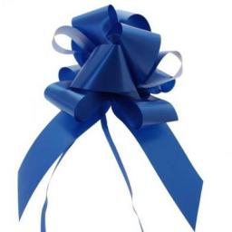 20 Royal Blue Flora Charm Pull Bow (50mm)