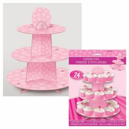 Pink Cupcake Stand Hold 24