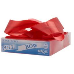 20 Red Flora Charm Pull Bows (50mm)