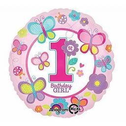 1st Birthday Girl Foil Balloon.jpg