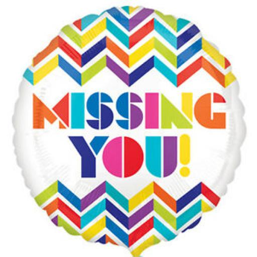 """Missing You Foil Balloon 18"""""""
