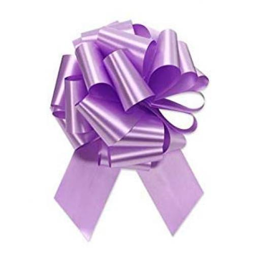 20 Lavender Flora Charm Pull Bow (50mm)