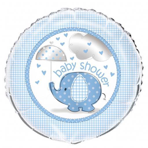 """Baby Shower Foil Blue 18"""""""