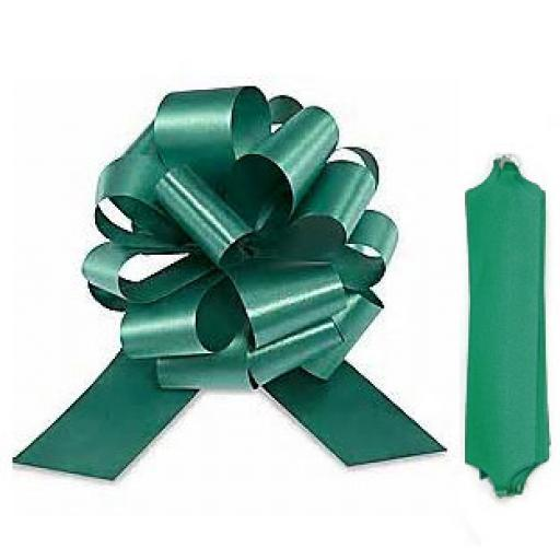 20 Hunter Green Pull Bows (50mm)
