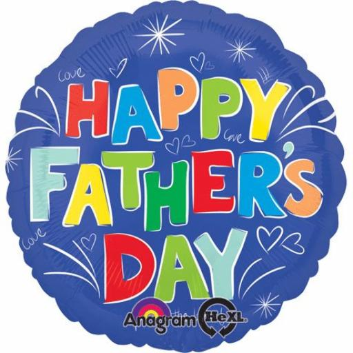 """18"""" Colourful Fathers Day Balloon"""