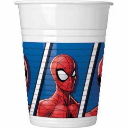Spiderman Plastic Cups 8pk