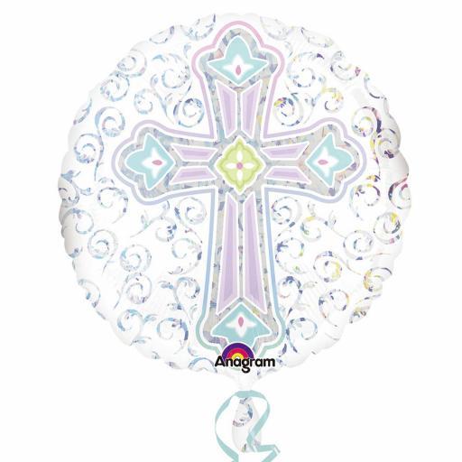 """18"""" Radiant Cross Standard Foil Balloons"""