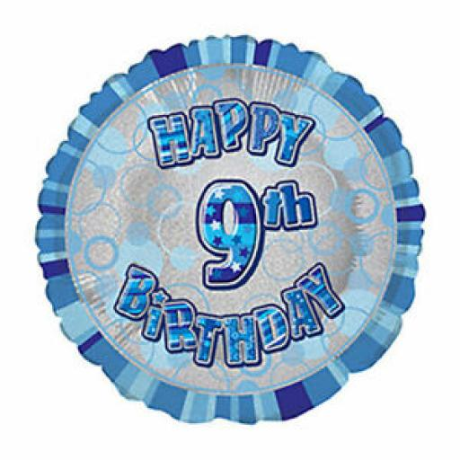 """9th Happy Birthday Blue 18"""""""