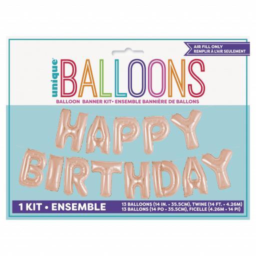Happy Birthday Foil Balloon Banner Kit