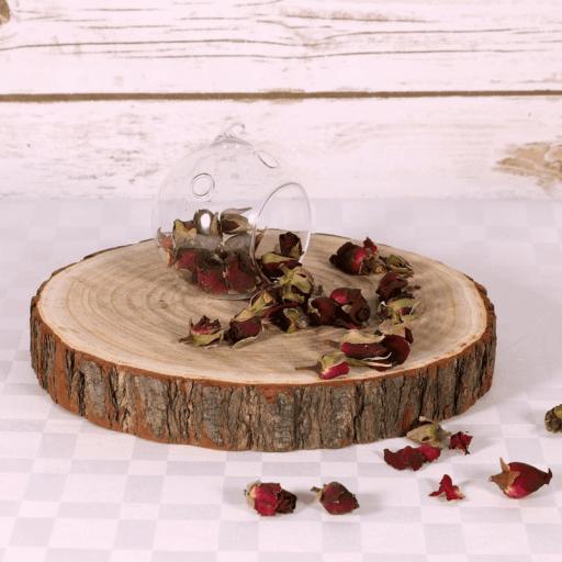 """Round Wooden Slice Cake Stand 13"""""""