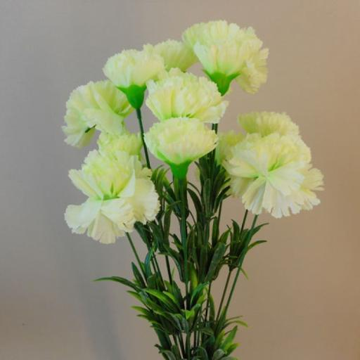 Artificial Carnation Picks 18 White Heads 7cm