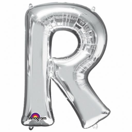 "Mini Air Filled Foil Balloon Letter ""R"""