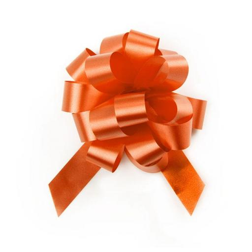 20 Orange Pull Bows (50mm)