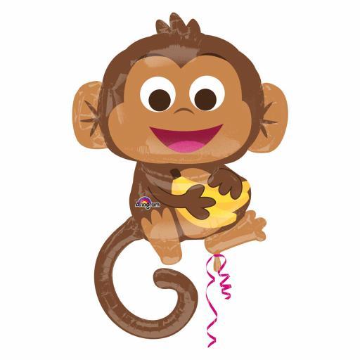 "25 x 36""Happy Monkey Super Shape Foil Balloons"