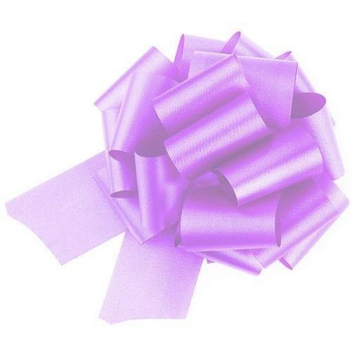 20 Lilac Pull Bows (50mm)