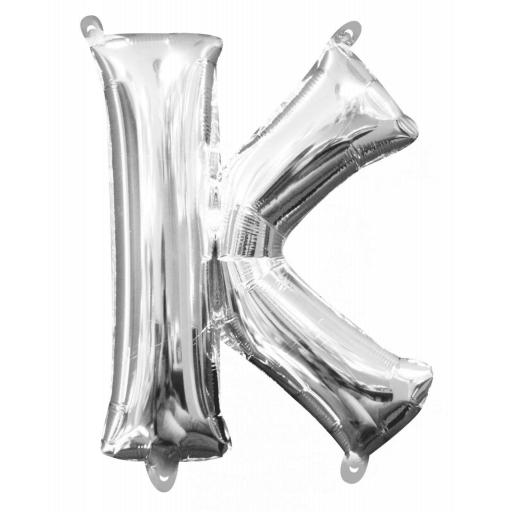 "Mini Air Filled Foil Balloon Letter ""K"""