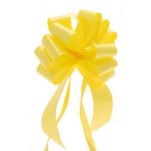 20 Yellow Pull Bows (50mm)