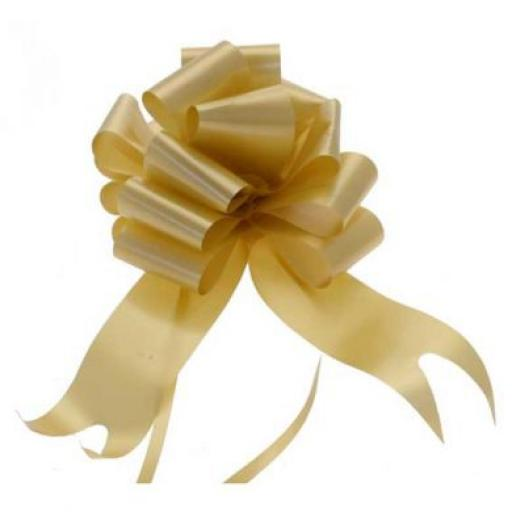 20 Gold Flora Charm Pull Bows (50mm)