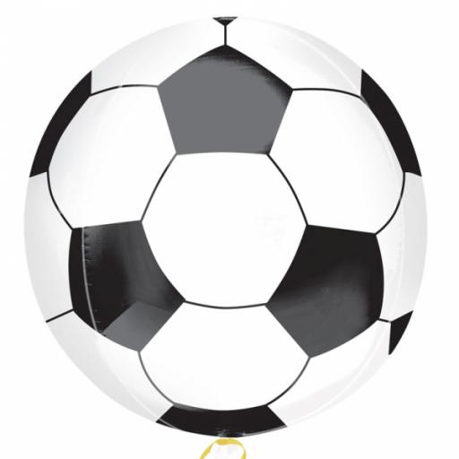 """15 x 16"""" Soccer Ball Orbz Foil Balloons"""