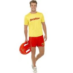 Lifeguard Costume With Top And Shorts Size L