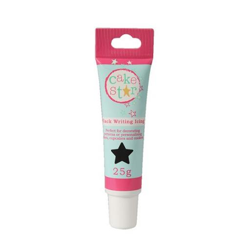 Cake Star Writing Icing - Black -25g