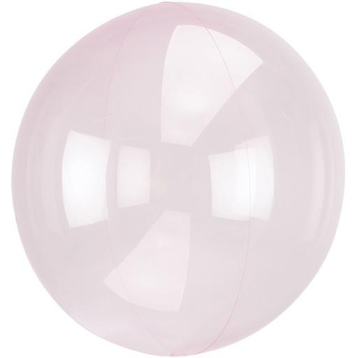 "Orbz Clear Pink Foil Balloon 18""+"