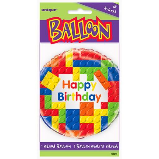 "18"" Lego Blocks Foil Balloon"