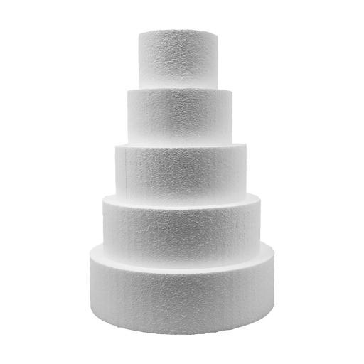 """4x5"""" Round Cake Dummy - Straight Edge"""