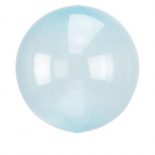 """Blue Crystal Orbz Foil Balloon 18""""+"""