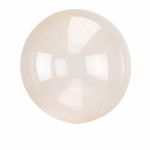 """Orbz Orange Clear Foil Balloon 18""""+"""