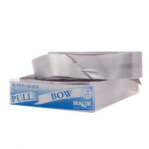 20 Silver Flora Charm Pull Bow (50mm)