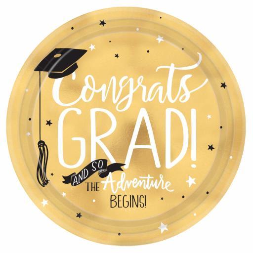 "Graduation Paper Plates 8pk 11"""